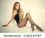 fashion cosmetics healthy hair  ... | Shutterstock . vector #1160124787
