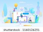 e learning concept illustration ... | Shutterstock .eps vector #1160126251