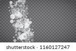 winter frame with white... | Shutterstock .eps vector #1160127247