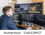 businessman trading stocks.... | Shutterstock . vector #1160128927