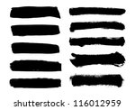 black vector brush strokes... | Shutterstock .eps vector #116012959