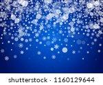 christmas border with white...   Shutterstock .eps vector #1160129644