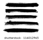 Black Vector Brush Strokes...