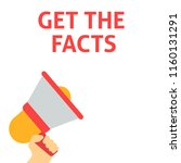 get the facts announcement.... | Shutterstock .eps vector #1160131291