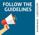 follow the guidelines... | Shutterstock .eps vector #1160131354