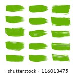 green vector brush strokes... | Shutterstock .eps vector #116013475