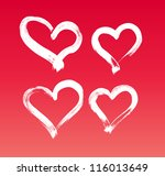 vector hand painted hearts... | Shutterstock .eps vector #116013649