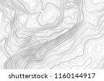vector contour topographic map... | Shutterstock .eps vector #1160144917