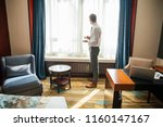 business trip and people... | Shutterstock . vector #1160147167