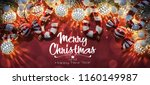 christmas and new year holidays ... | Shutterstock . vector #1160149987