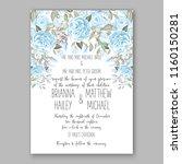 floral wedding vector...   Shutterstock .eps vector #1160150281