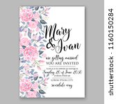 floral wedding vector... | Shutterstock .eps vector #1160150284