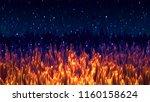 abstract golden grass... | Shutterstock . vector #1160158624