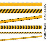 lines isolated. warning tapes.... | Shutterstock .eps vector #1160161327