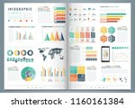 infographic elements with world ... | Shutterstock .eps vector #1160161384