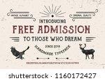 wildlife font. hand made... | Shutterstock .eps vector #1160172427
