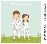 vector of cute romantic couple... | Shutterstock .eps vector #1160173621