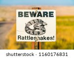 Beware Rattlesnakes Sign On...