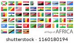 collection of flags from all... | Shutterstock .eps vector #1160180194