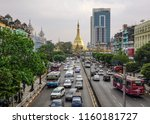 yangon  myanmar   feb 1  2017.... | Shutterstock . vector #1160181727