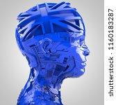 3d rendering  robotics and... | Shutterstock . vector #1160183287
