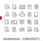 book icons    red point series  ... | Shutterstock .eps vector #1160190271