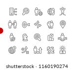 business strategy icons    red... | Shutterstock .eps vector #1160190274