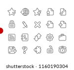 web icons    red point series   ... | Shutterstock .eps vector #1160190304