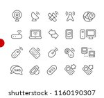 wireless icons    red point... | Shutterstock .eps vector #1160190307
