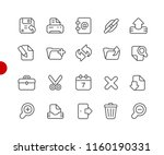 interface icons    red point... | Shutterstock .eps vector #1160190331