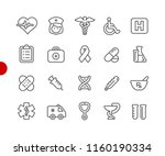 medical icons    red point... | Shutterstock .eps vector #1160190334