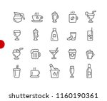 drinks icons    red point... | Shutterstock .eps vector #1160190361
