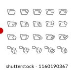 folder icons   set 1 of 2   ... | Shutterstock .eps vector #1160190367