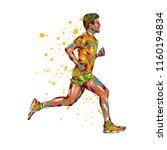 running marathon  people man... | Shutterstock .eps vector #1160194834