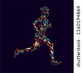 running marathon  people man... | Shutterstock .eps vector #1160194864