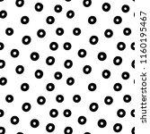 doodle dots vector seamless... | Shutterstock .eps vector #1160195467