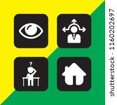 vision icon. 4 vision set with... | Shutterstock .eps vector #1160202697