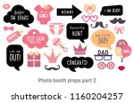 baby shower photo booth props.... | Shutterstock .eps vector #1160204257