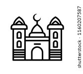 mosque icon vector isolated on... | Shutterstock .eps vector #1160207587