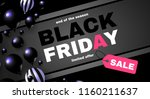 black friday sale layout... | Shutterstock .eps vector #1160211637
