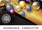 realistic glossy and... | Shutterstock .eps vector #1160211724
