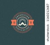 mountains logo emblem vector... | Shutterstock .eps vector #1160212687