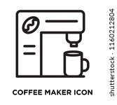 coffee maker icon vector... | Shutterstock .eps vector #1160212804