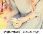 hope  girl guessing on... | Shutterstock . vector #1160214934