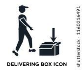 delivering box icon vector... | Shutterstock .eps vector #1160216491