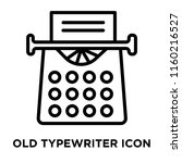 old typewriter icon vector... | Shutterstock .eps vector #1160216527