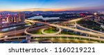 city overpass at night ... | Shutterstock . vector #1160219221