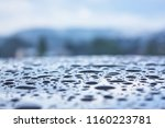 wet car surface after the rain | Shutterstock . vector #1160223781