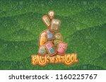 back to school vector... | Shutterstock .eps vector #1160225767