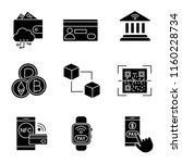 e payment glyph icons set....   Shutterstock .eps vector #1160228734